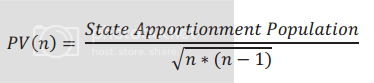 Method of equal proportions