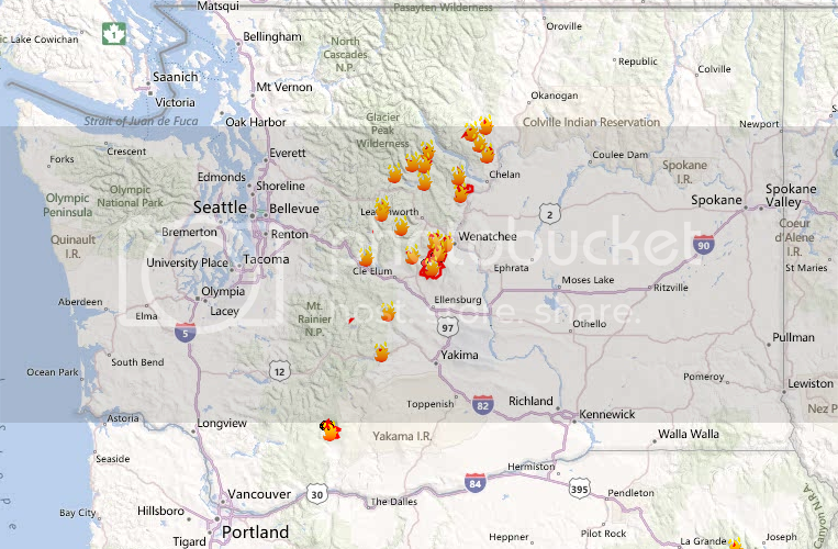 WA Large Fires, 09/30/2012